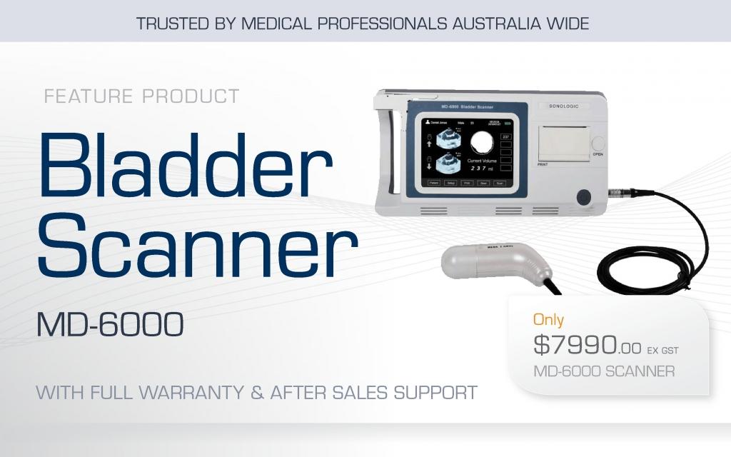 bladder scanner provider - medical supplies - md6000 3D scanner - Sonologic Australia